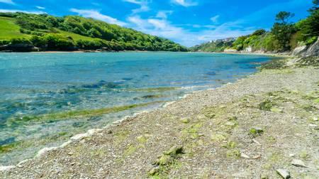 the-gannel-newquay-england beach