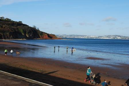 broad-sands-paignton-england beach
