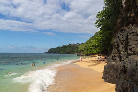 hideaways-beach-princeville-hawaii beach