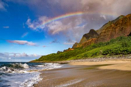 kalalau-beach-wainiha-hawaii beach