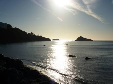 meadfoot-beach-torquay-england beach