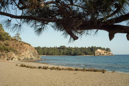 phaselis-antalya beach
