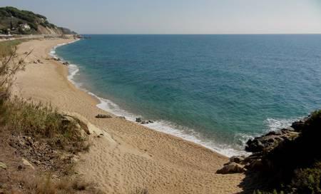 platja-de-la-murtra-sant-pol-de-mar-catalonia beach