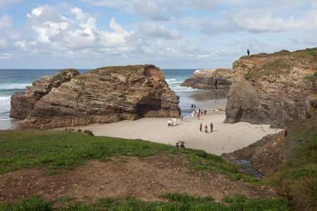praia-das-catedrais-a-rochela-galicia beach