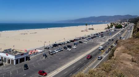 santa-monica-state-beach-santa-monica-california beach