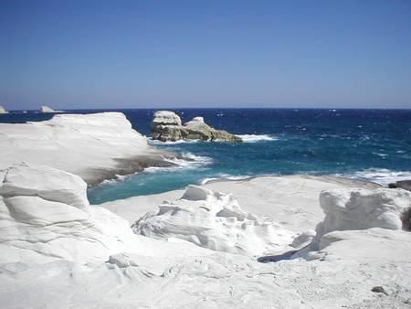 sarakiniko-beach-milos beach